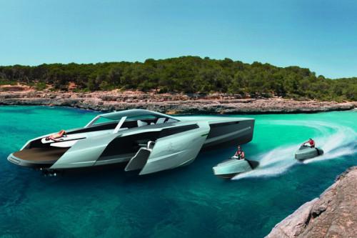 Audi Trimaran Hybrid Yacht Concept
